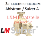 Запчасти к насосам Ahlstrom / Sulzer Серии насосов Ahlstrom / Sulzer A, APP, ARP, ASP, ES, NPP, NSP, WPP, Z, ZH/ZHO, ZPP